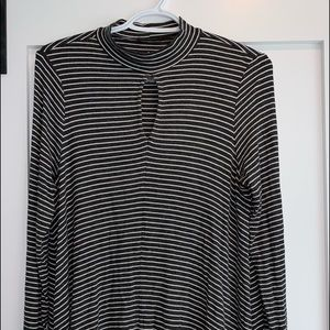 White and black striped long sleeve top!